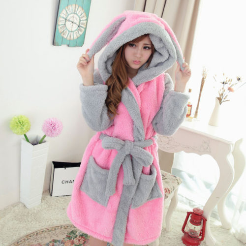 66ebaffc4e hot Sale Cartoon Panda Winter Lady Pajamas Bath Robe Sleepwear Women Coral  Velvet Bathrobes Women Homewear Asia Size M-L