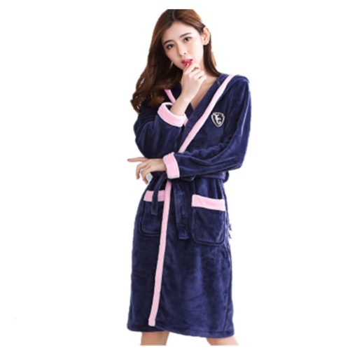 01ed1872f5 Bath Robe Women Winter Warm Coral Fleece Women s Bathrobe Nightgown Kimono  Floral Dressing Gown Sleepwear Female Home Clothes